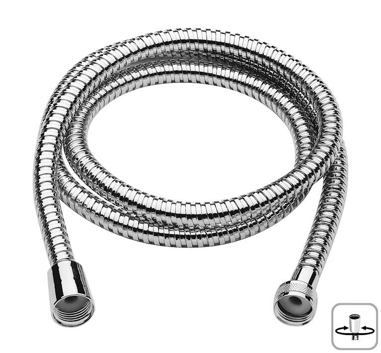 Brauseschlauch, Metallbrauseschlauch, Duschschlauch, Länge 2000 mm, Massive stabile Ausführung