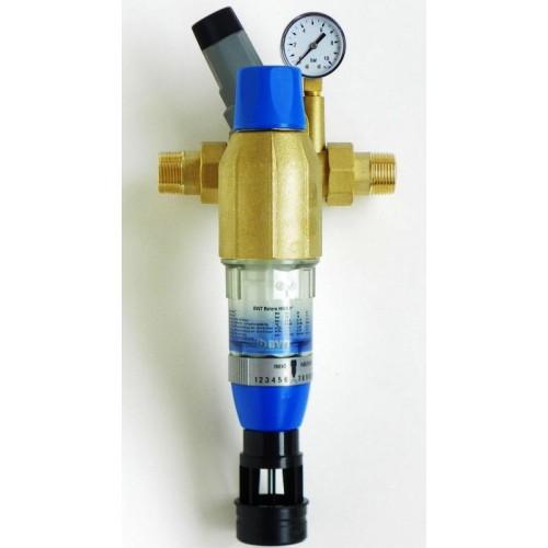 "Wasserfilter, Hauswasserstation, BOLERO, rückspülbar, inkl. Druckminderer, DN 32 / 1 1/4"""