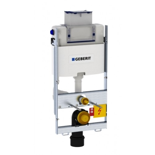 WC Wand-Montageelement, GIS, Bauh.1000mm, mit Omega Unterputz Spülkasten, Betätigung von oben/vorne