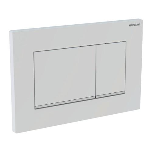 Sigma 30, Abdeckplatte, weiss, für 2-Mengen Spülung, für UP Spülkasten 320/UP300