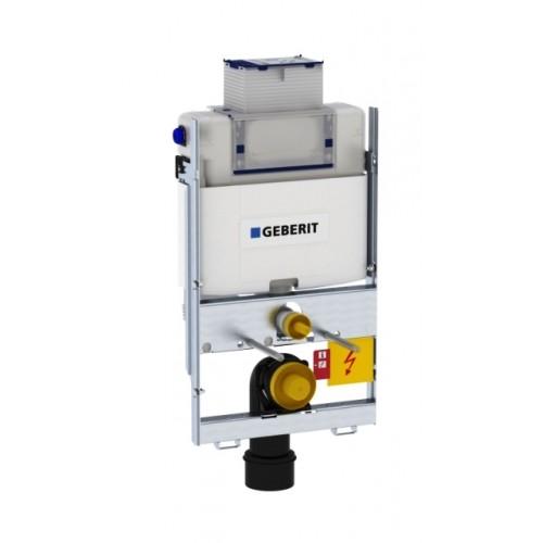 WC Montageelement, GIS, Bauhöhe 870 mm, mit Omega Unterputz Spülkasten, Betätigung oben / vorne