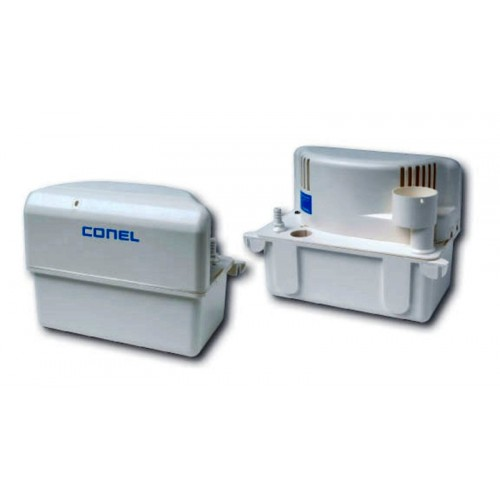 Kondensatpumpe, FLOW m. 6 mtr. Schlauch, Schlauchübergang DN 50x8 / Zulaufadapter