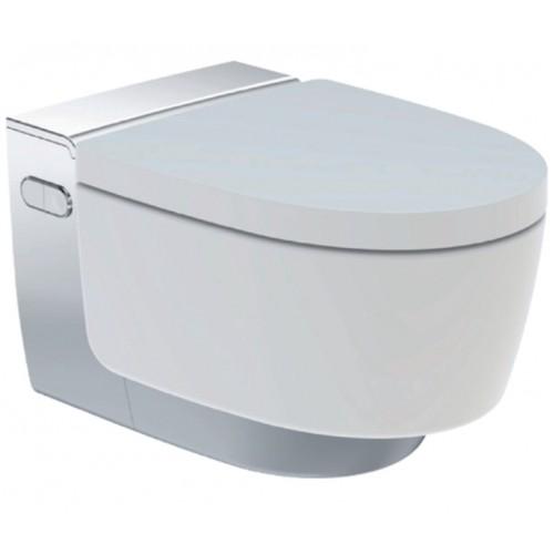 AquaClean Mera Classic, WC-Komplettanlage, Wand-WC, hochglanz-verchromt
