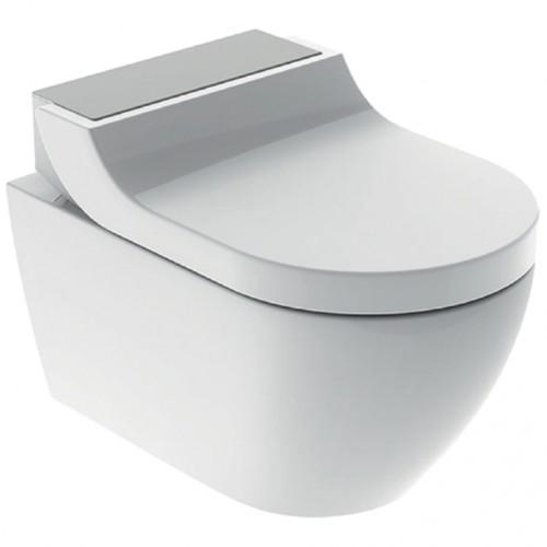AquaClean Tuma Comfort WC-Komplettanlage, Wand-WC, edelstahl-gebürstet