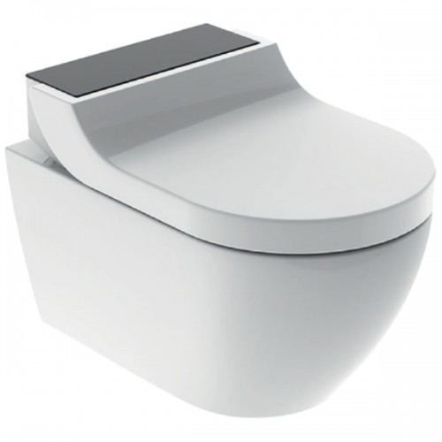 AquaClean Tuma Comfort WC-Komplettanlage, Wand-WC, Glas schwarz