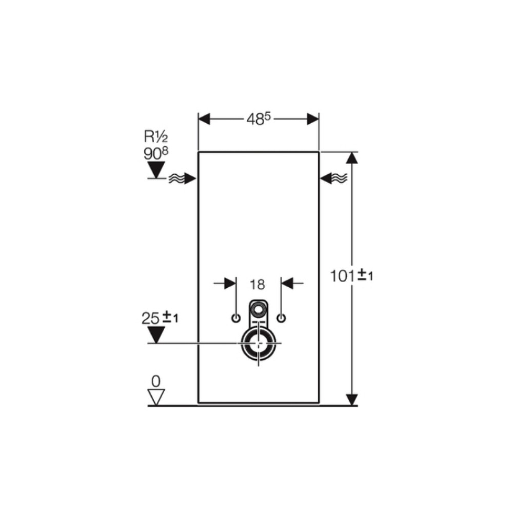 sanit rmodul monolith f r wand wc 101cm glas schwarz aluminium. Black Bedroom Furniture Sets. Home Design Ideas