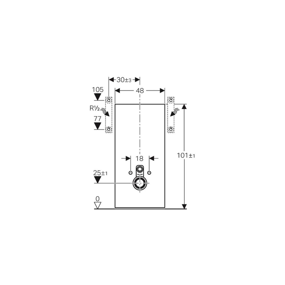sanit rmodul monolith f r wand wc 114cm glas weiss aluminium. Black Bedroom Furniture Sets. Home Design Ideas