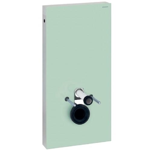 Sanitärmodul Monolith, für Wand-WC, 101cm, Glas mint / Aluminium gebürstet, Art.131.022.SL.5