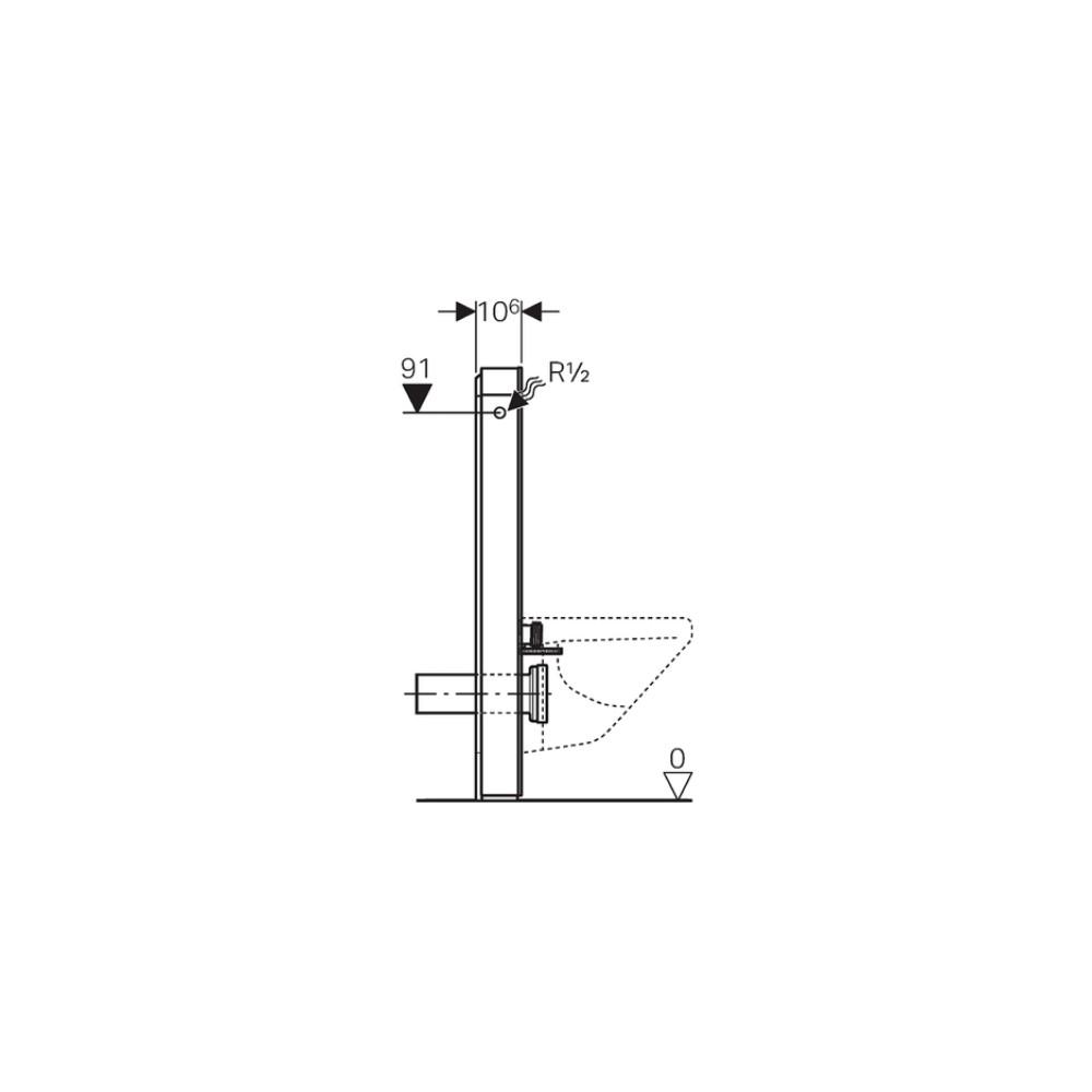 sanit rmodul monolith f r wand wc 101cm glas sand aluminium. Black Bedroom Furniture Sets. Home Design Ideas