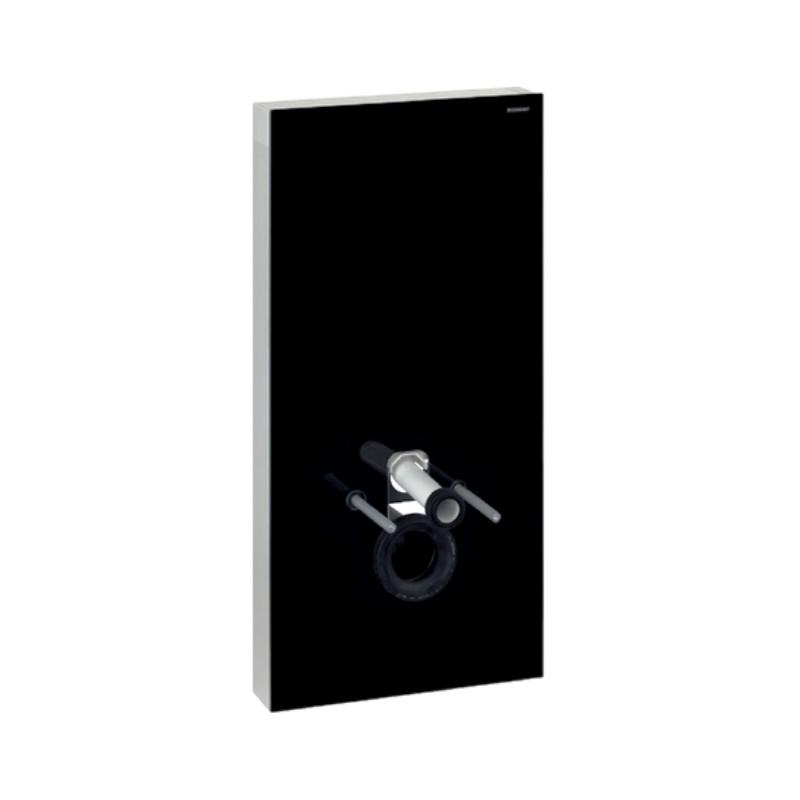 Monolith Plus, Sanitärmodul, für Wand-WC, 101 cm , Glas schwarz, Art. 131.222.SJ.5