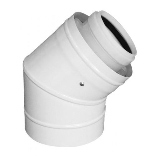 Abgasbogen LAS-W, DN 110/160, 45°, für raumluftunabhängigen Betrieb, für Öl- und Gasbrennwertkessel