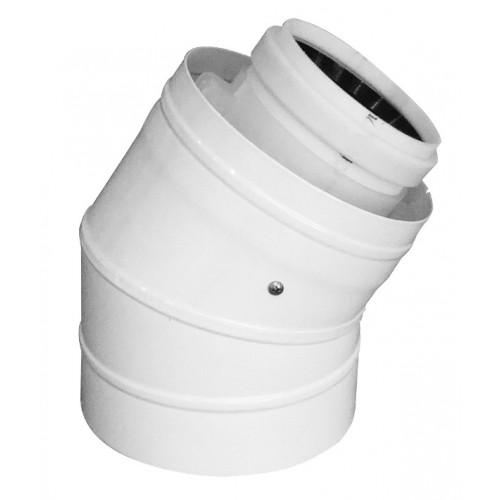 Abgasbogen LAS-W, DN 110/160, 30°, für raumluftunabhängigen Betrieb, für Öl- und Gasbrennwertkessel