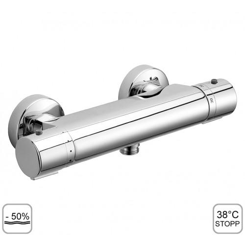 Thermostat Brausearmatur, Brausebatterie zur Aufputzmontage, Therm ECO