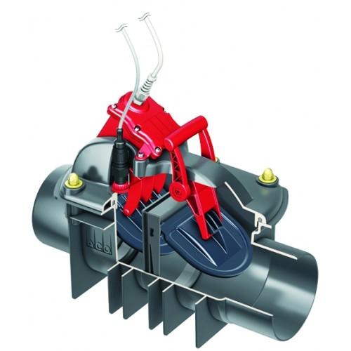 Rückstauklappe, Rückstauautomat, Quatrix-K, zum Einbau in freiliegende Abwasserleitung DN 150