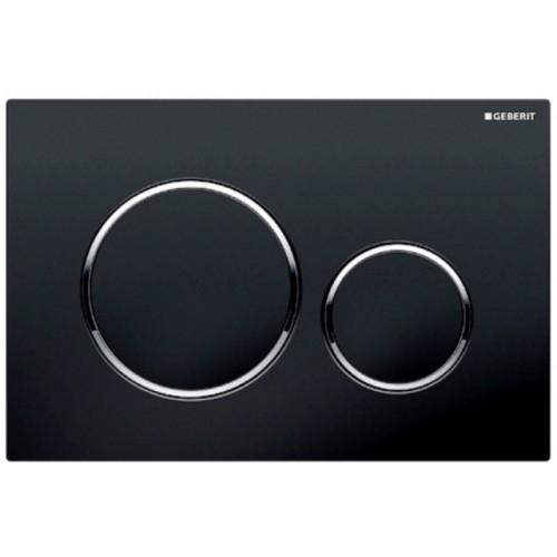 Sigma 20, Abdeckplatte, schwarz, hochglanz-chrom, schwarz, 2 Mengen Spülung, für UP320/UP300
