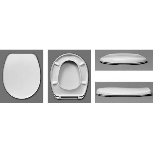 WC Sitz, DIA - AKTIV, mit Deckel, Nylon Scharniere, weiss