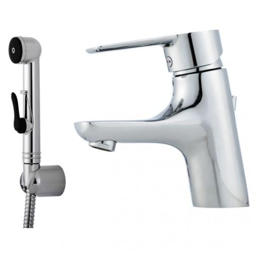 Cera B5 Sanette, Einhebelmischer, Einhandmischer, mit Ablaufgarnitur, Handbrause, Schlauch & Wandhalter
