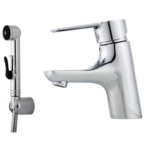 Cera B5 Sanette, Einhebelmischer, Einhandmischer, ohne Ablaufgarnitur, mit Handbrause, Schlauch & Wandhalter