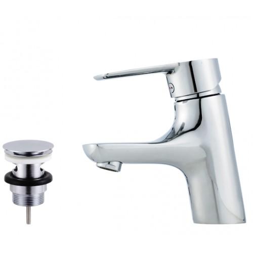 Cera B5, Einhebelmischer, Waschtischarmatur, Einhandmischer, mit Push.down Ablaufventil