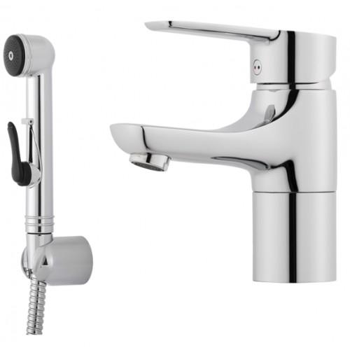 Cera B6 Sanette, Einhebelmischer, Einhandmischer, ohne Ablaufgarnitur, mit Handbrause, Schlauch & Wandhalter