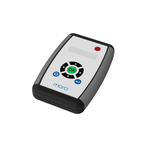 Fernbedienung für elektronisch gesteuerte Armaturen, Diagnostik und Programmwahl von MORA