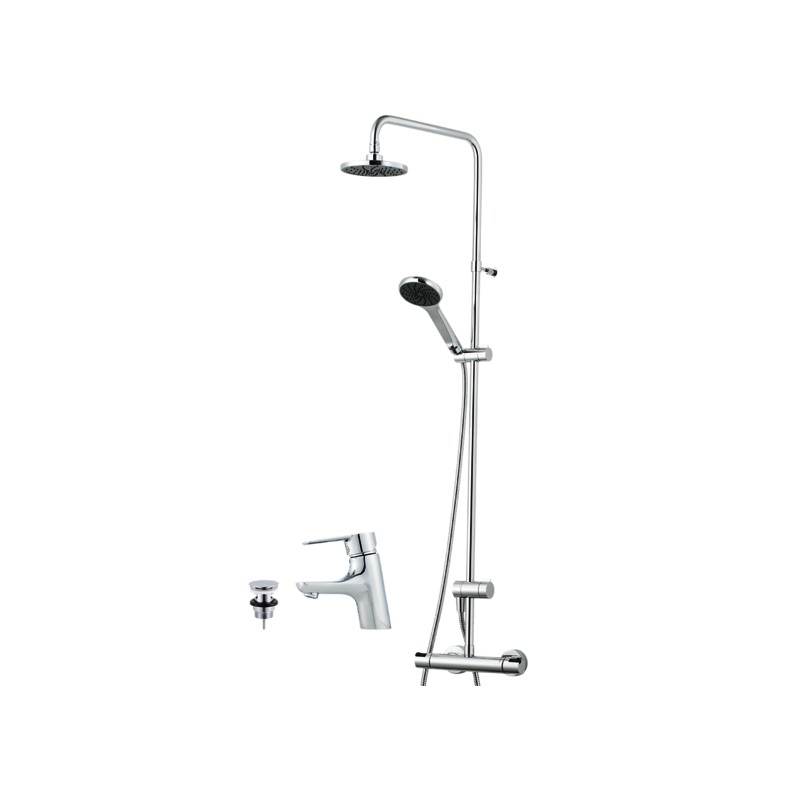 Cera T4 Duschsystem, Brauseset, Bathroom Kit komplett Paket
