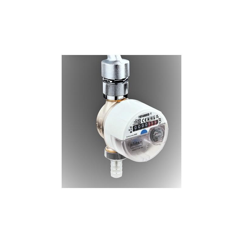 Zapfhahnzähler, KW, zur Montage an Wasserhähne im Innenbereich, z.B. bei der Waschmaschine