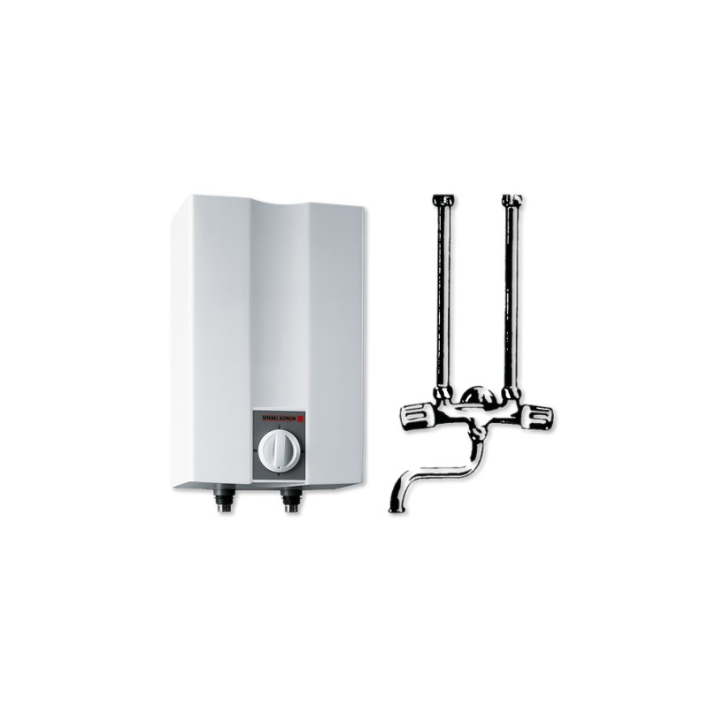 warmwasser speicher ufp5h vl bertischspeicher weiss 5 ltr im paket mit bertischarmatur chrom. Black Bedroom Furniture Sets. Home Design Ideas