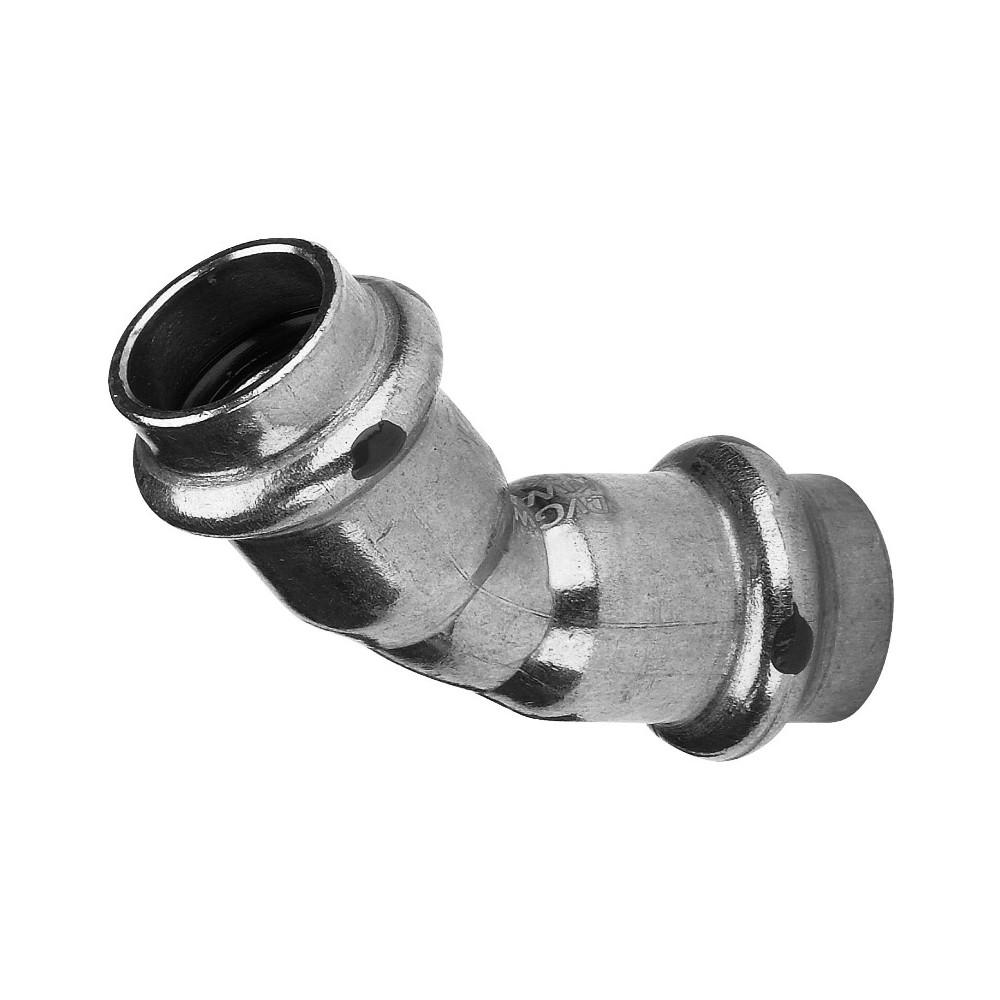 VIEGA Prestabo Pressfitting SC-Contur Stahl 45° 90° Bogen T-Stück 15mm...54mm