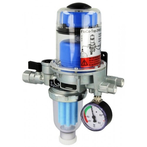 Heizölentlüfter, Heizölfilter, Ölfilter, Flo-Co-Top 2KM Si mit integriertem Filter, RV und Unterdruck-Manometer