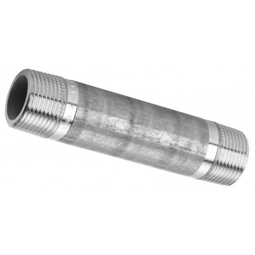 """Rohrnippel, Rohrdoppelnippel 1/2""""x80mm, Gewindefitting, Rotguss Typ 3530"""