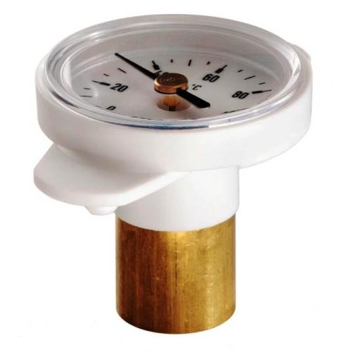 """Thermometer, Bimetall, passend zu ISO-T-Kugelhähne mit Clip zum nachträglichen Einbau (geeignet ab 1"""")"""