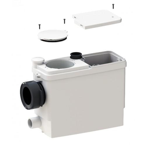 SaniPack Pro UP, WC, Hebeanlage, Fäkalienhebeanlage, Kleinhebeanlage für alle gängigen Vorwandmontagesysteme