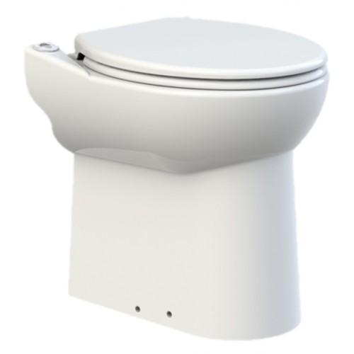 SaniCompact C43, WC Keramik mit Integrierter Hebeanlage, Abwasserhebeanlage u. WC Sitz