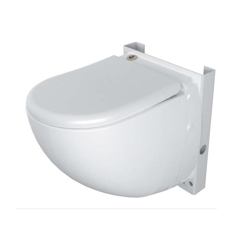 SaniCompact Comfort, Wand WC Keramik mit Integrierter Hebeanlage, Abwasserhebeanlage u. WC Sitz