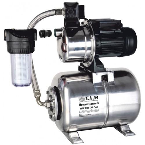 Hauswasserwerk HWW INOX 1300 Plus F, Hauswasserversorgungspumpe, Hauswasserautomat