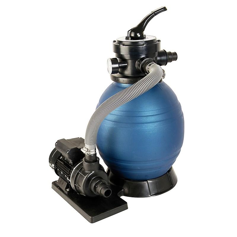 Schwimmbad Filter SetSPF 180, bestehend aus Pumpe und Sandfilter, ohne Quarzsand