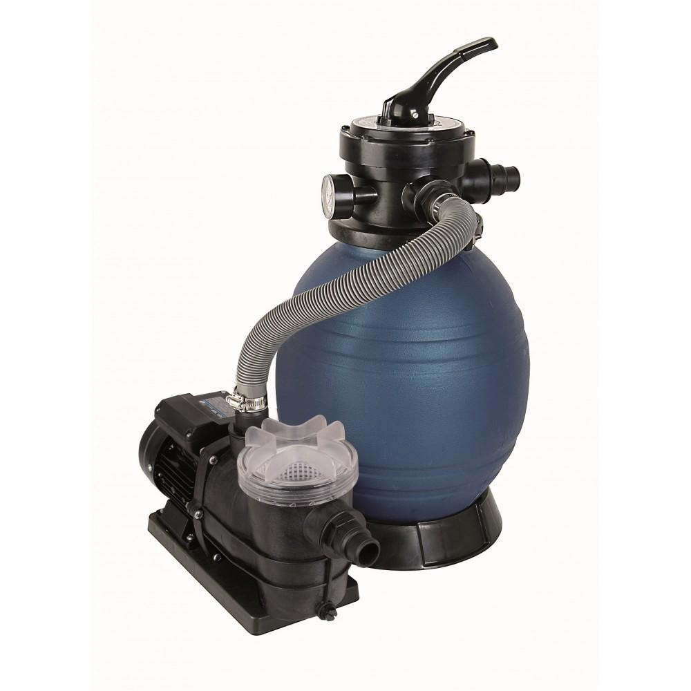 Schwimmbad Filter Set SPF 250F, bestehend aus Pumpe, Vorfilter und Sandfilter, ohne Quarzsand ~ 01175401_Gartenteich Ohne Pumpe Und Filter