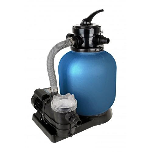 Schwimmbad Filter Set SPF 370F, bestehend aus Pumpe, Vorfilter und Sandfilter, ohne Quarzsand