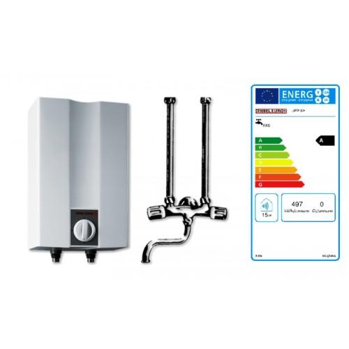 Warmwasser Speicher, UFP5h VL, Übertischspeicher, weiss, 5 ltr. im Paket mit Übertischarmatur, chrom