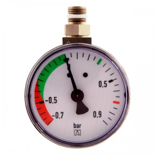 "Manometer -0,7/+0,9 bar, passend für Kolben-Antiheberventil KAV, Art 20240, DN 6 (1/8"")"