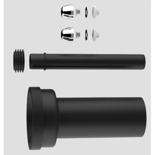 Wand WC, Anschlussgarnitur, PE, d -90mm, Länge 300mm