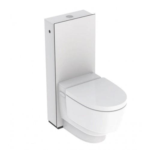 AquaClean Mera Classic WC-Komplettanlage Stand-WC, weiß-alpin Verkleidung Spülkasten: Hochdruck-Schichtstoffplatte weiß