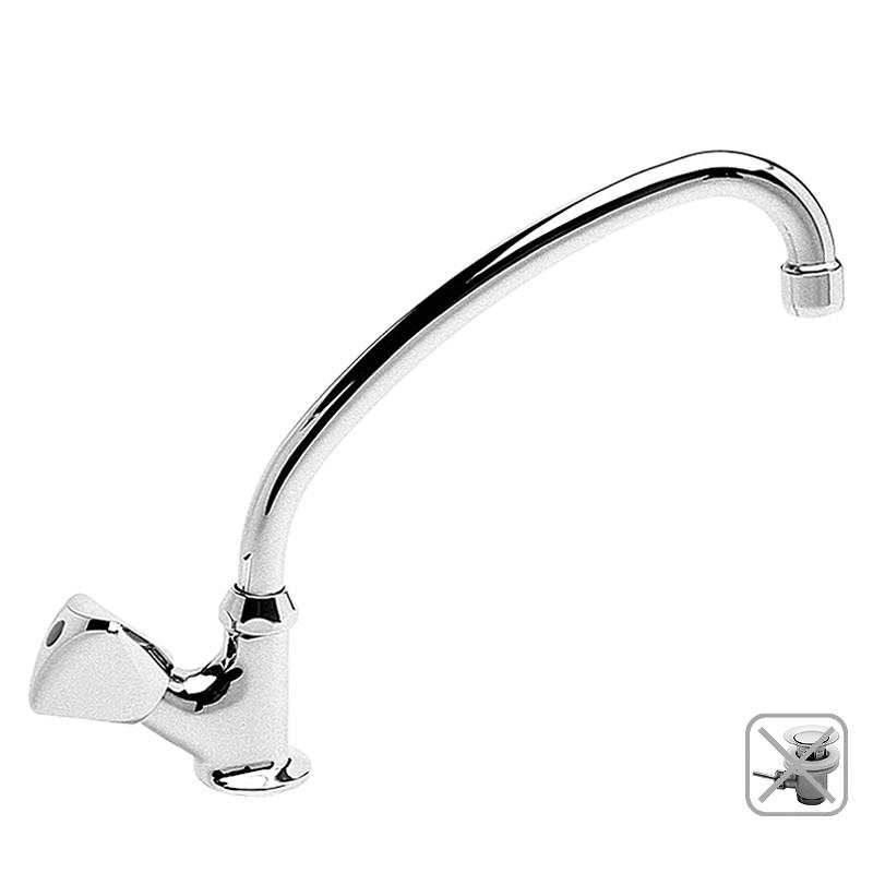 Waschtisch Kaltwasser Standventil, Classic mit Rohrauslauf, ohne.Ablaufzubehör, verchromt