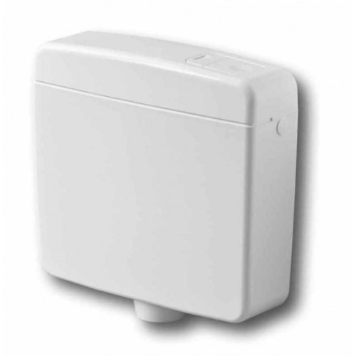 Spülkasten, Mondo Dual Flush, weiss, breite Bauform, 2 Mengenspülung