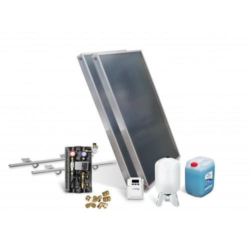 Solarkollektor Paket mit 2 Kollektoren zur Unterstützung Warmwasserbereitung, Fußbodenheizung und Schwimmbaderwärmung