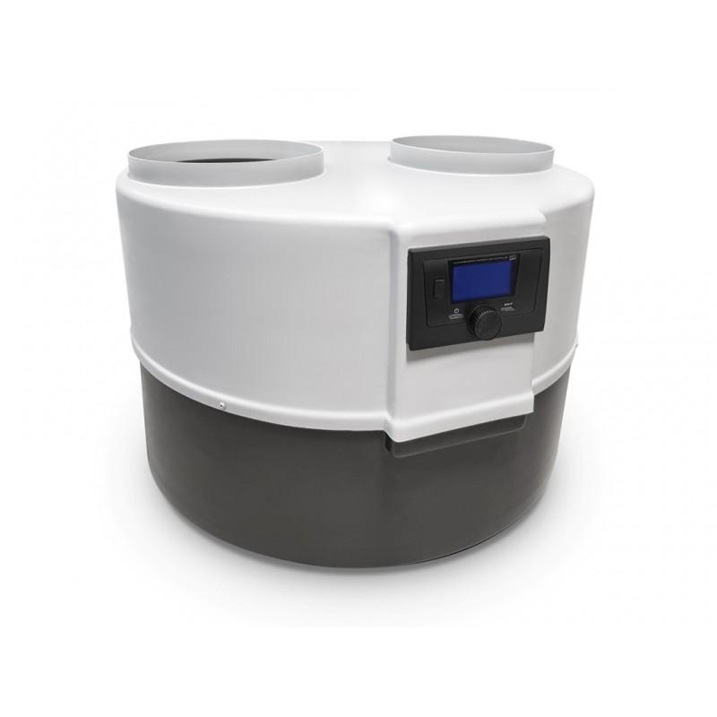 Drops Wärmepumpe der Serie M 4.1, mit manueller Regelung, hocheffizientes Kompaktgerät für die Warmwasserbereitung.