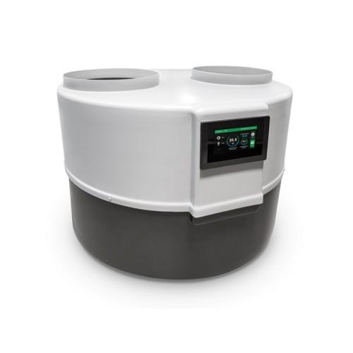 Wärmepumpe Drops der Serie D 4.1, mit Touchscreen Regelung, hocheffizientes Kompaktgerät für die Warmwasserbereitung.