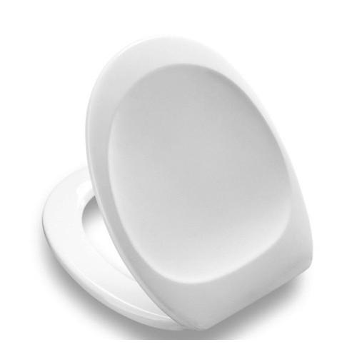 WC Sitz, Toilettensitz, Dania, mit Deckel, Typ 982, weiss Scharniere Edelstahl