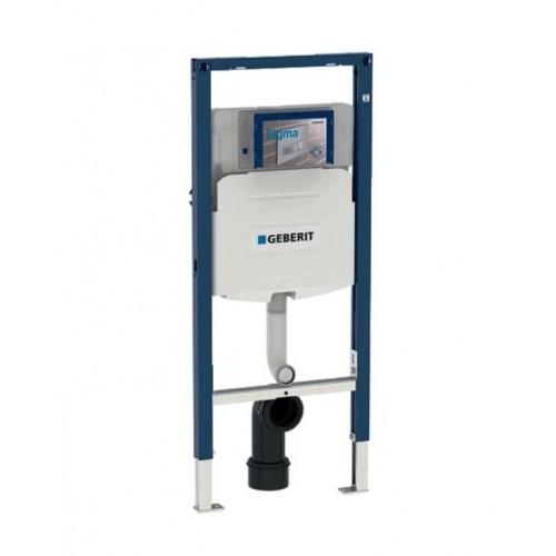 Geberit Duofix Element für Stand-WC 112 cm mitSigma UP-Spülkasten 12 cm für Kinder- u. Kleinkinder, Stand-WC